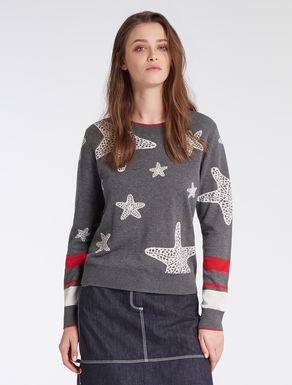 Cotton jacquard sweater
