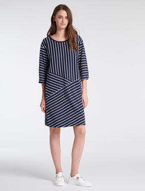 Striped cotton jersey dress