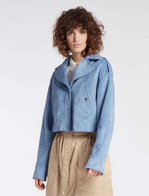 Suede jersey jacket