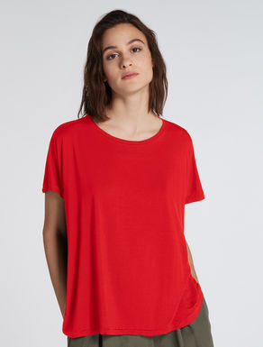 Oversized T-shirt with gathering