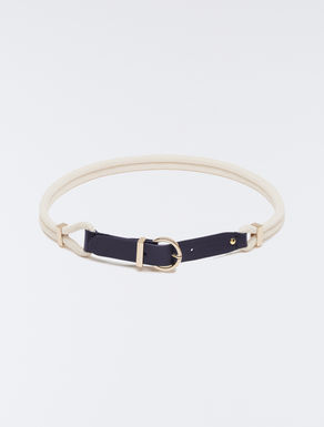 Cord and leather belt