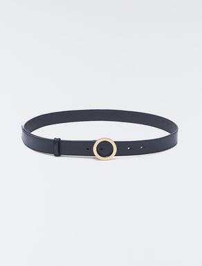 Belt with circular buckle