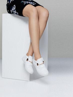 Sneakers in pelle con catena