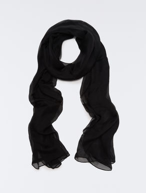 Silk chiffon stole scarf