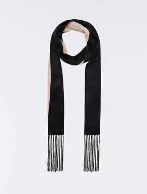 Double face skinny scarf