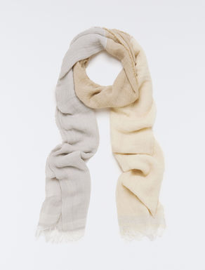 Gauze scarf with lamé