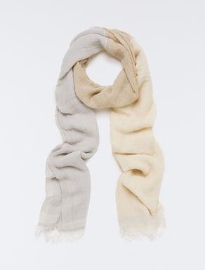 Gauze scarf with lamé