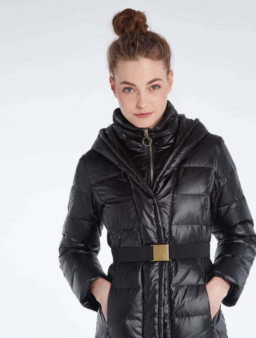 Slim-fit down jacket with belt 277dbe0d342