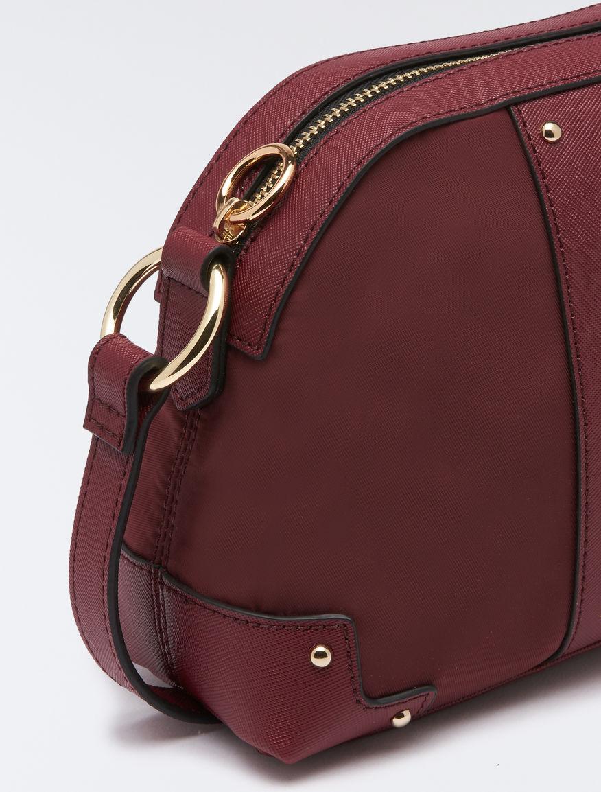 f033e46ee00 Techno-fabric shoulder bag, burgundy -