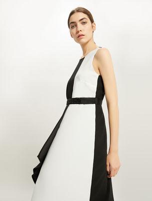 Panel dress con cintura ricamata f35ed00b043