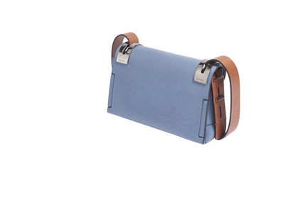 Blue and terracotta leather shoulder SM 207 bag Sportmax