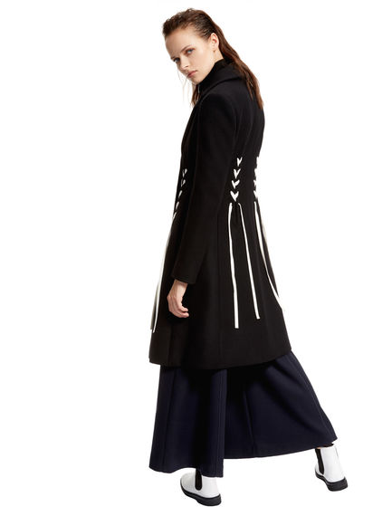 Laced Double Cashmere Coat