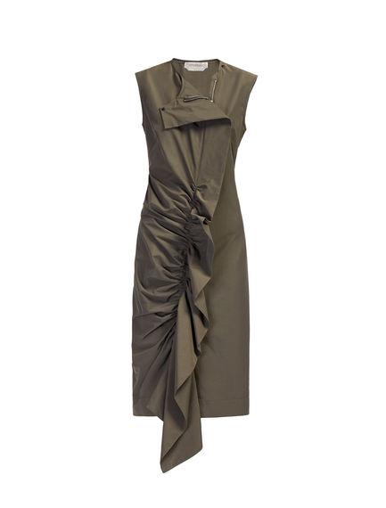 Ruffle-Front Shift Dress