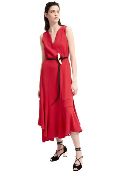 Bias-Cut Viscose Cocktail Dress