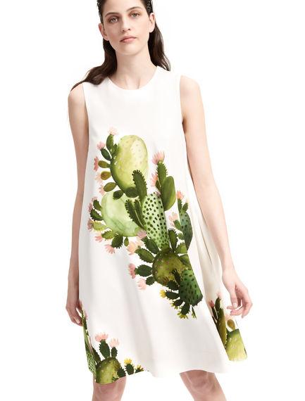 Cactus Design A- Line Dress