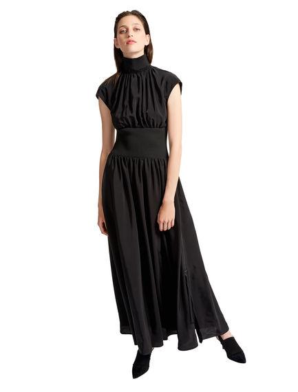 Waisted Silk Maxi Dress