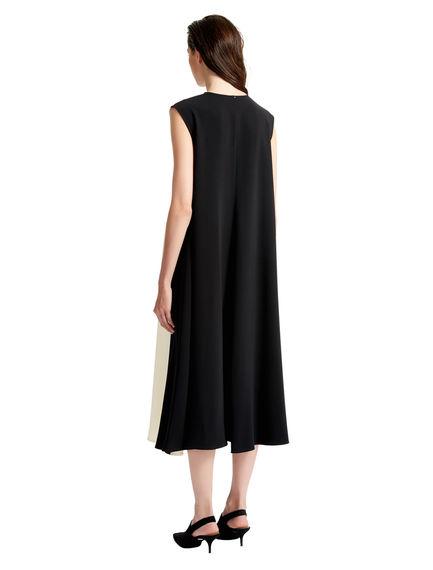 Colour Block Long Tunic Dress