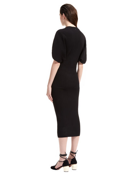 Cocoon Sleeve Contoured Knit Dress