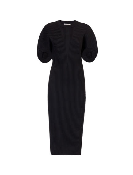 Cocoon Sleeve Contoured Knit Dress Sportmax