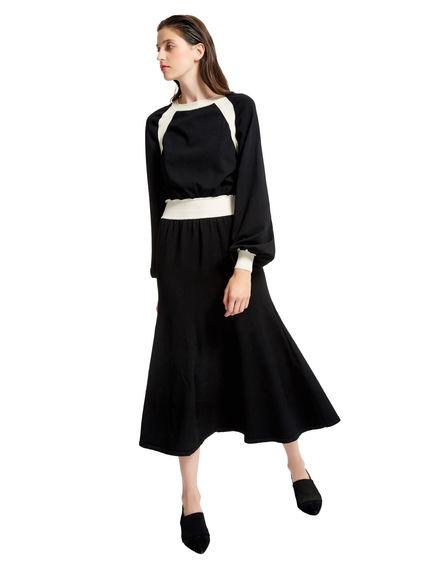 Black & White Trim Viscose Dress