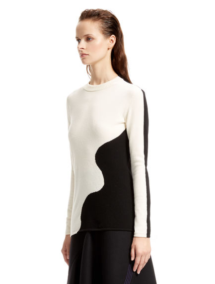 Black and White Contour Top