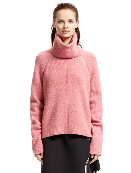 Pink Mohair Transforming Sweater