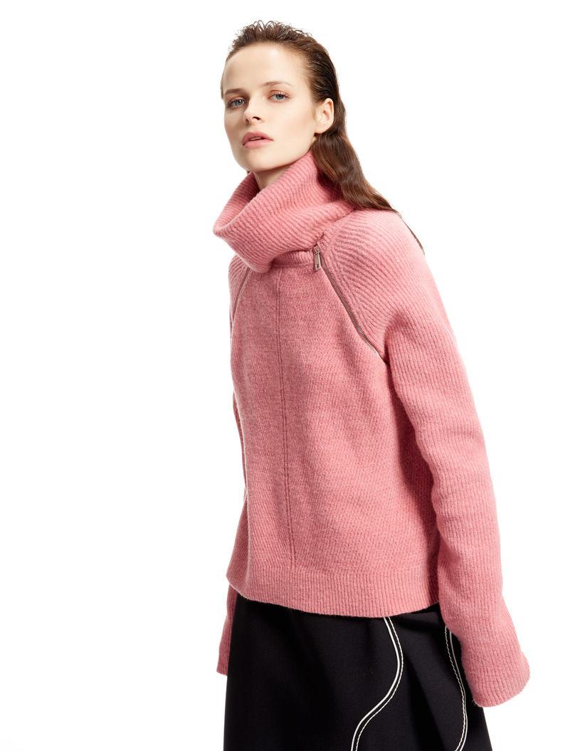 Molto Maglione in mohair con collo rimovibile, rosa antico - Sportmax CM61