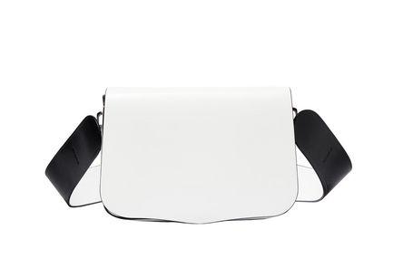 White Crossbody Saddle Bag