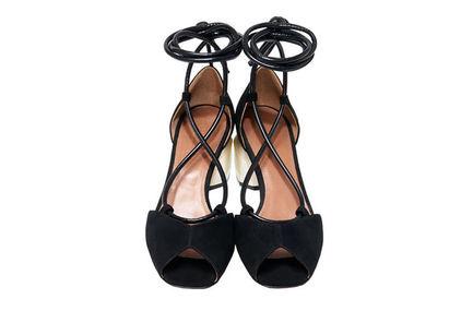 Pebble Heel Suede Sandals