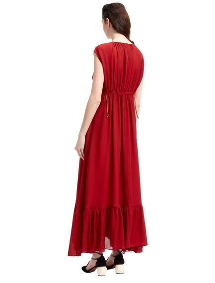 Layered Silk Georgette Maxi Dress