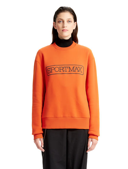 Orange Cotton Sportmax Sweatshirt