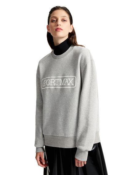 Grey Cotton Sportmax Sweatshirt