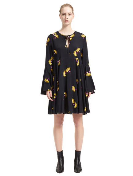 Carnation Print Tunic Dress