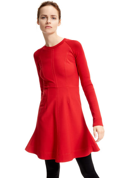 Red High-performance Skater Dress