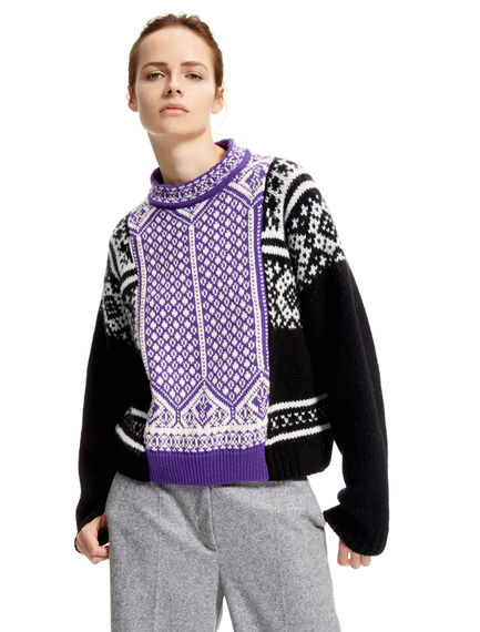 Nordic Knit Fusion Sweater