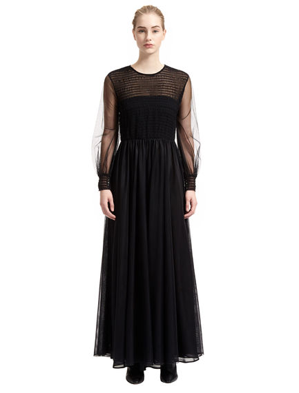 Layered Tulle Maxi Dress