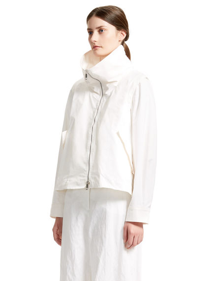 White Shower-proof Transforming Parka