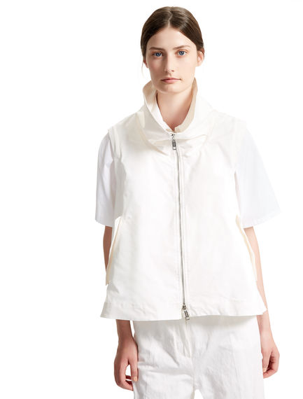 White Shower-proof Transforming Parka Sportmax