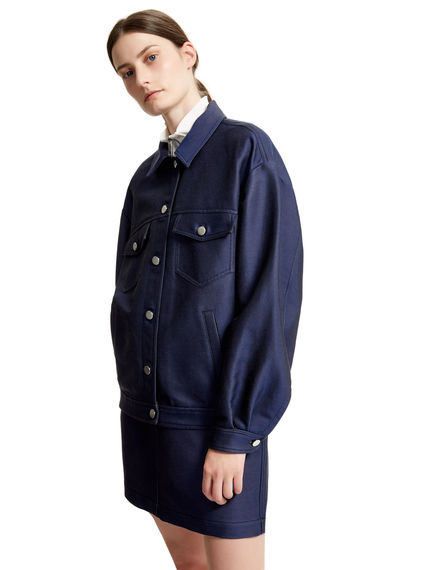 Indigo Bellow-sleeve Bomber Jacket Sportmax