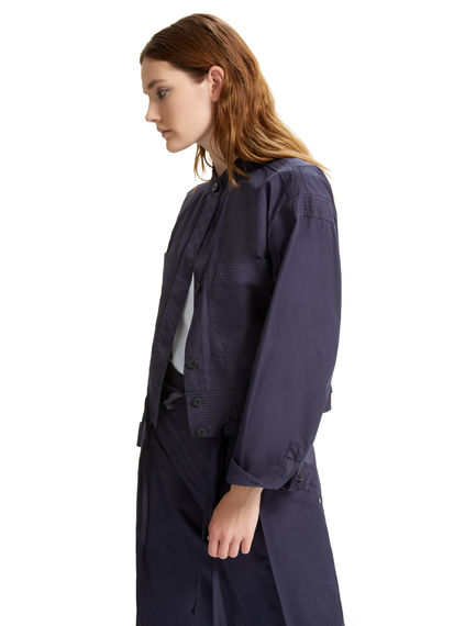 Cotton Poplin Bomber Jacket Sportmax