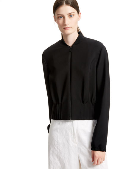 Black Lightweight Bomber Jacket Sportmax