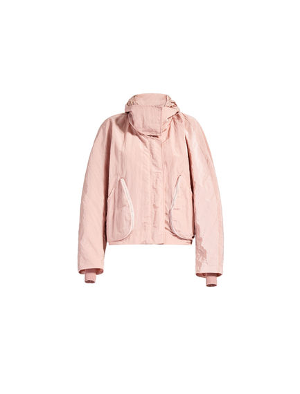 Pink Cropped Parka