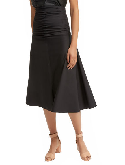 Ruched Gabardine Skirt Sportmax