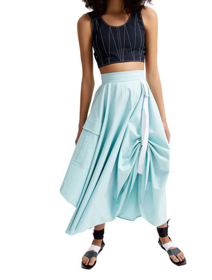 One-of-a-kind Transforming Cotton Maxi Skirt Sportmax
