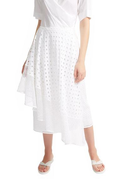 Broderie Anglaise Asymmetric Skirt Sportmax