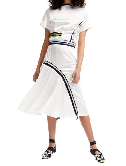 Asymmetric Gathered Satin Skirt Sportmax