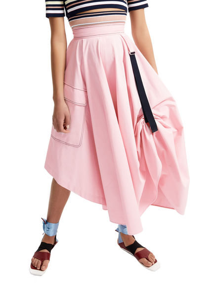 Transforming Satin Maxi Skirt Sportmax