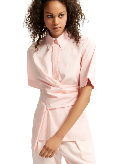 Wrapped Asymmetric Poplin Shirt Sportmax