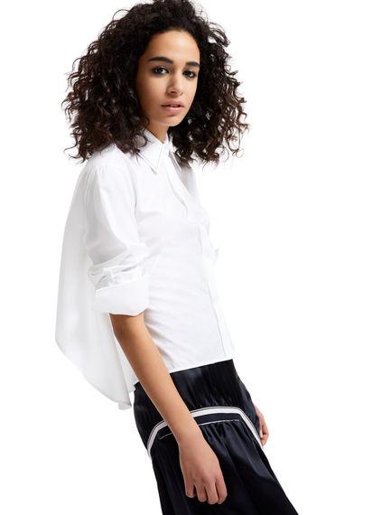 Asymmetric-back Poplin Shirt Sportmax