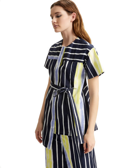 Striped Asymmetric Poplin Tunic Sportmax